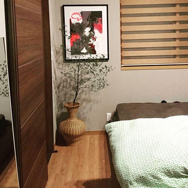 寝室インテリア 観葉植物7