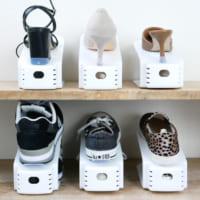 靴収納をすっきりさせよう!2倍の収納量が実現する「シューズホルダー」
