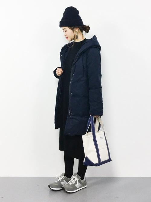最高気温8度 服装 ワンピースコーデ7