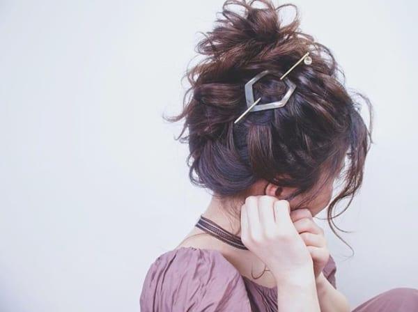 お団子アレンジでウェディングの髪型を