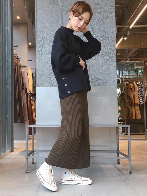 [koe] 細リブニットタイトスカート