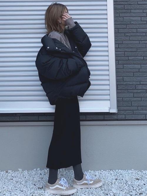 最高気温8度 服装 スカートコーデ