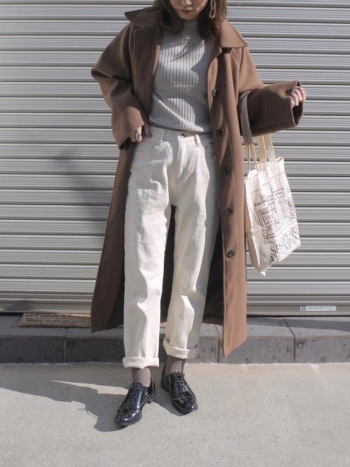 最高気温8度 服装 パンツコーデ7