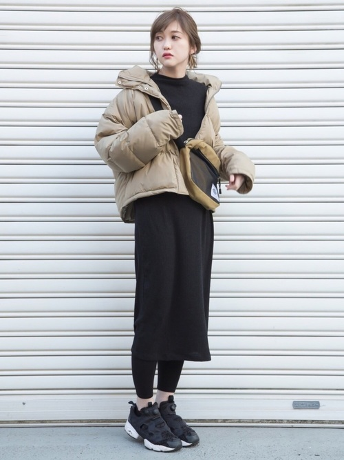 最高気温8度 服装 ワンピースコーデ6