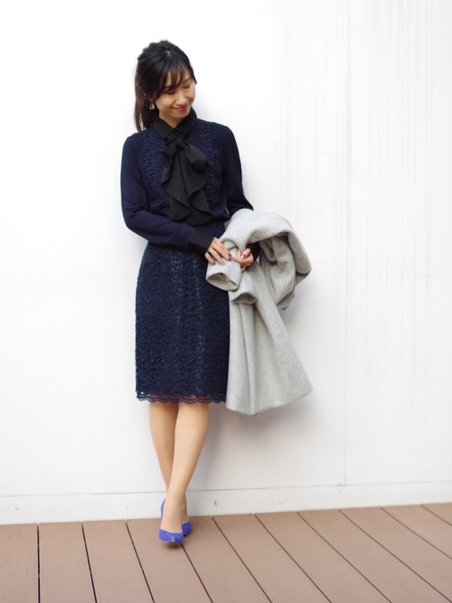 9[NARACAMICIE] ケミカルレースタイトスカート
