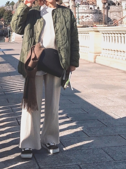 [Auntie Rosa] 【Holiday】リブニットパンツ2