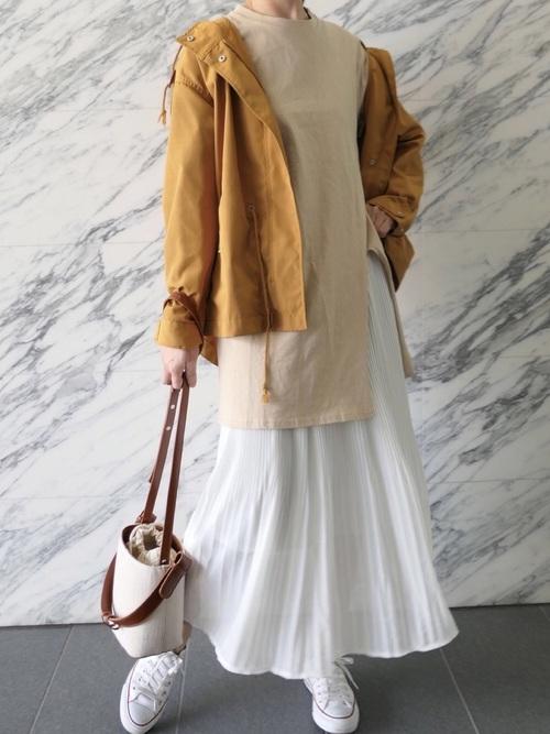 最高気温13度 服装 スカートコーデ2