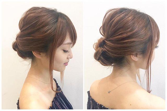 オフィスの髪型:巻かずに作れるシニヨン