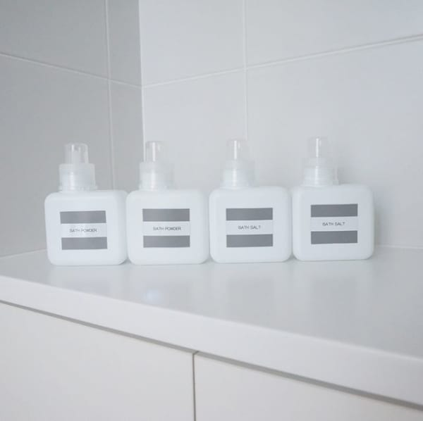 【100均グッズの洗面所収納】①入浴剤詰め替えボトル