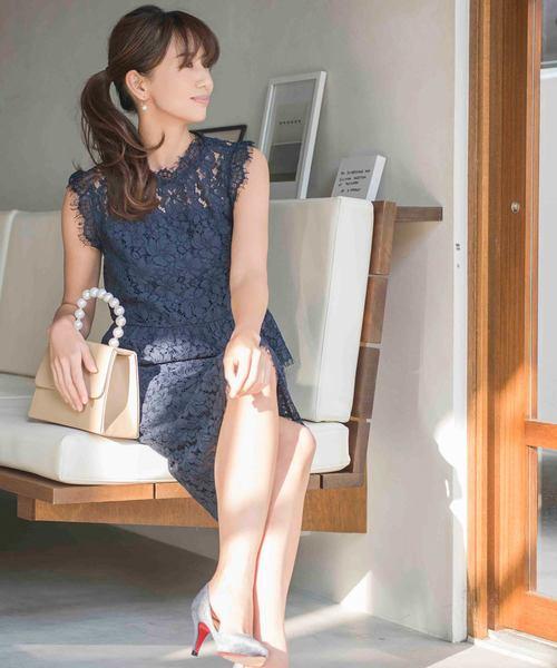 [darial] \東原亜希さん着用/パーフェクトレースセットアップドレス【結婚式・お呼ばれ・オケージョン・フォーマル対応ワンピースドレス】