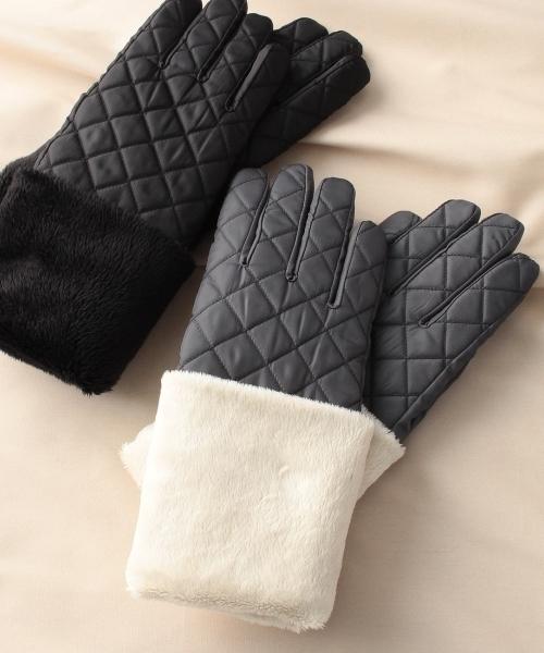 THE SHOP TK/裏ボアキルティング手袋