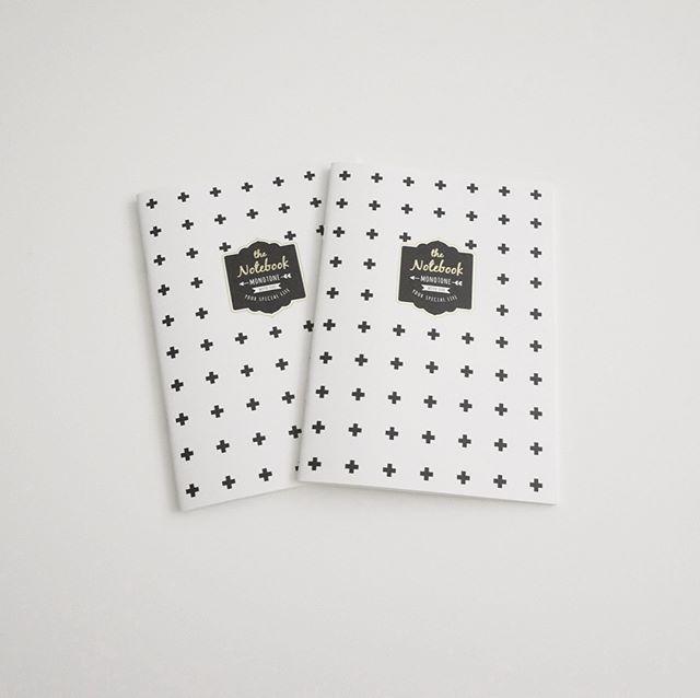 【セリア】モノトーンのデザインノート