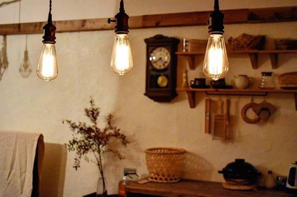 賃貸アパートでも出来るリビングの多灯使い照明