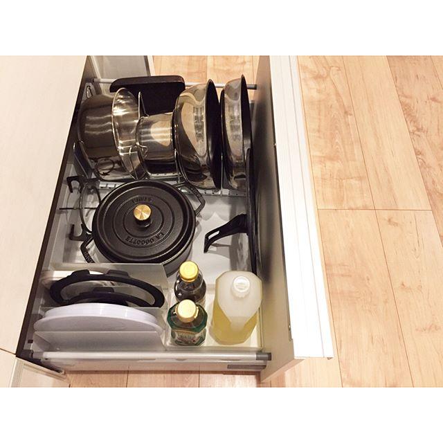 キッチンの引き出し収納《フライパン・鍋》4