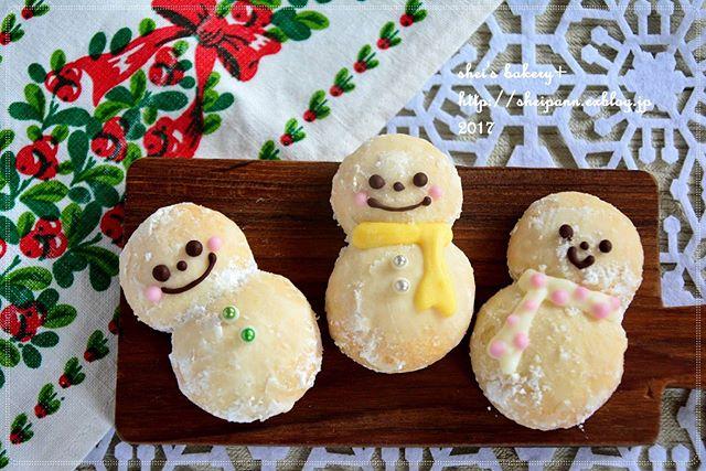 雪だるまの焼き菓子スノーボール