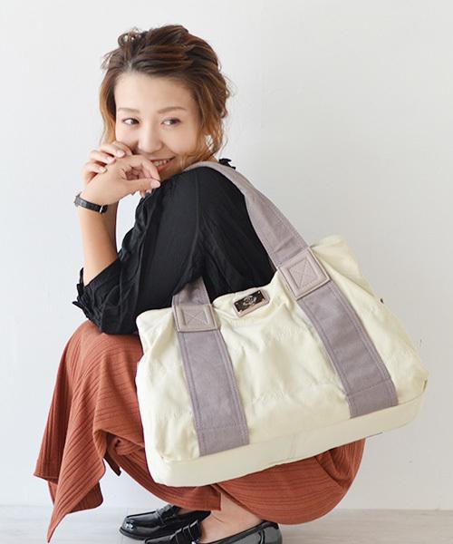 [VitaFelice] A4サイズ収納可 キャンバストートバッグ/マザーズバッグ(L) ナイロン/キルティング [sentino/センティノ] トラブルバッグ