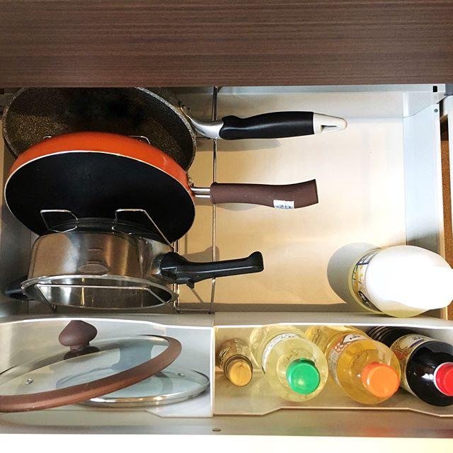 キッチンの引き出し収納《フライパン・鍋》3