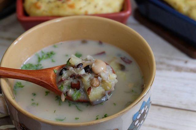 具沢山豆乳スープ