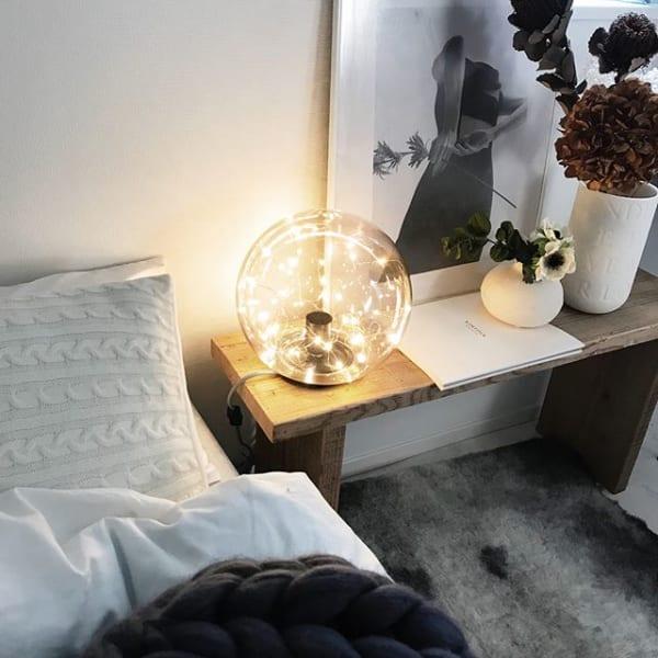 インテリア照明で寝室をコーディネート