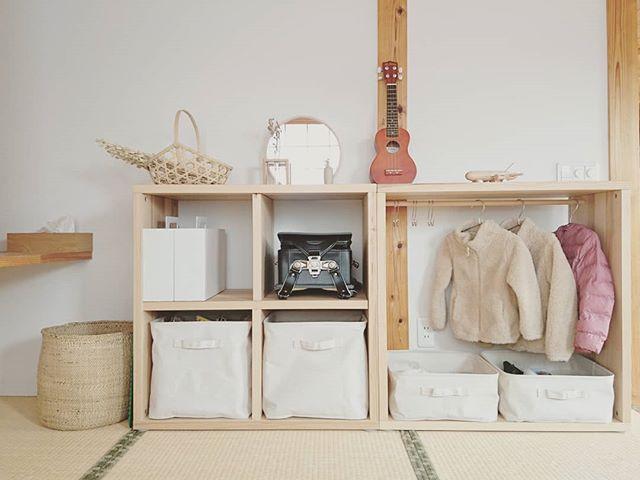 シンプルな収納棚ですっきり和室