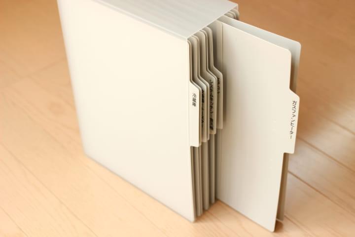 書類や取説の整理に3