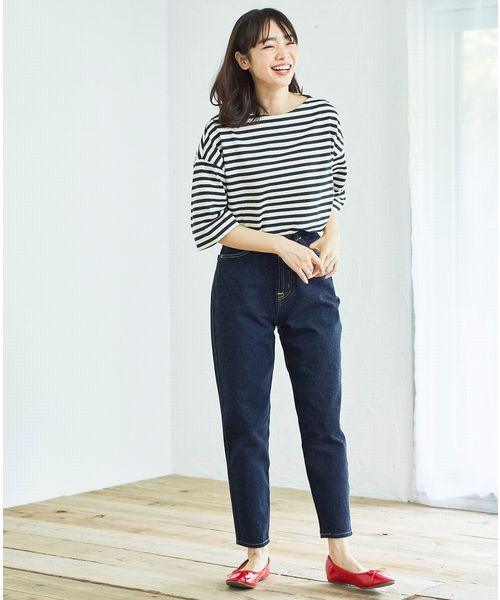 [EDWIN SHOP] SOMETHING FRENCH NOUVEAU Wフロント ROOMY SLIM