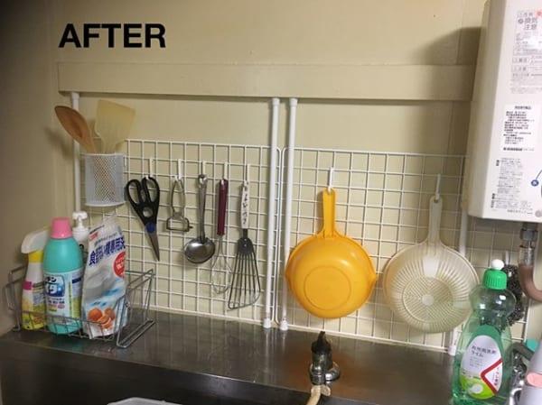 100均アイテムで作る簡単キッチン小物収納