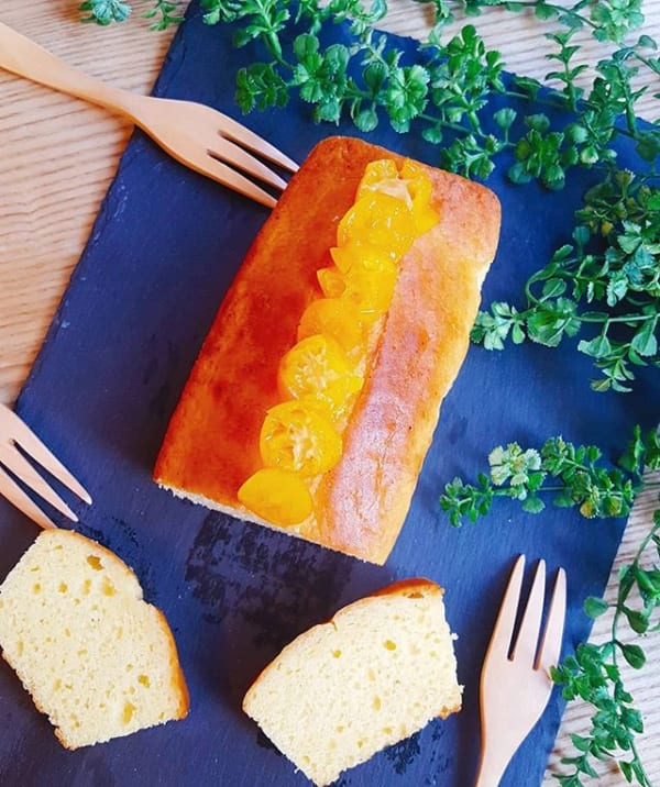 デザートに!金柑のフルーツパウンドケーキ