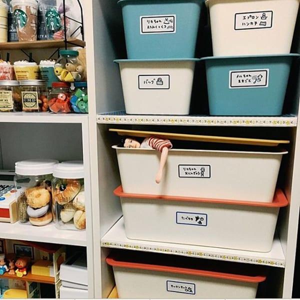 スクエア型ボックスでおもちゃ収納DIY