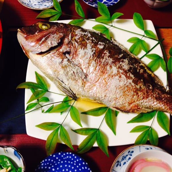 シンプルが一番美味しい!冬の魚で鯛の姿焼き