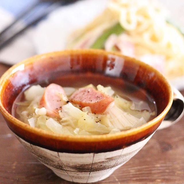 人気の簡単コンソメスープ