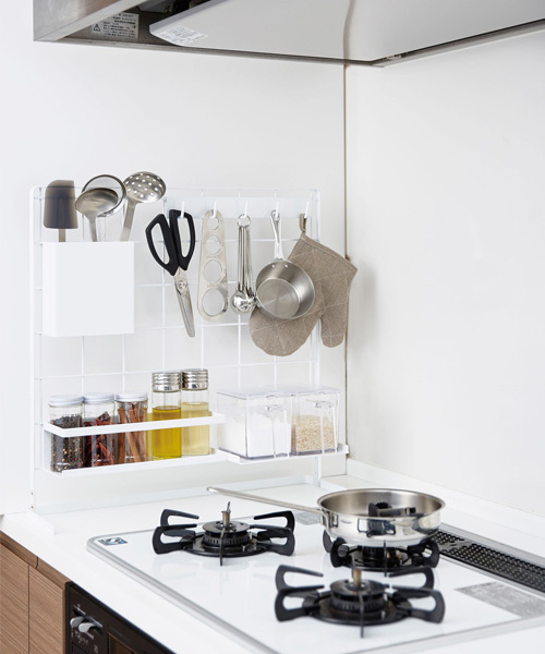 キッチン自立式メッシュパネル2