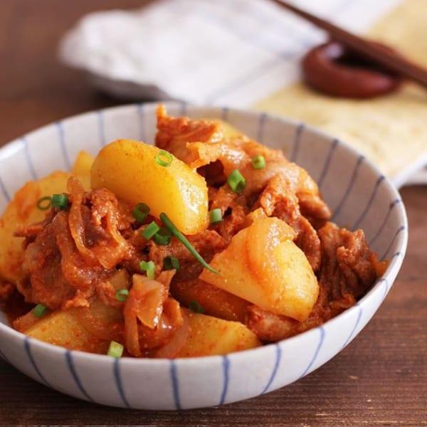 人気のレシピに!コチュジャンの韓国風肉じゃが