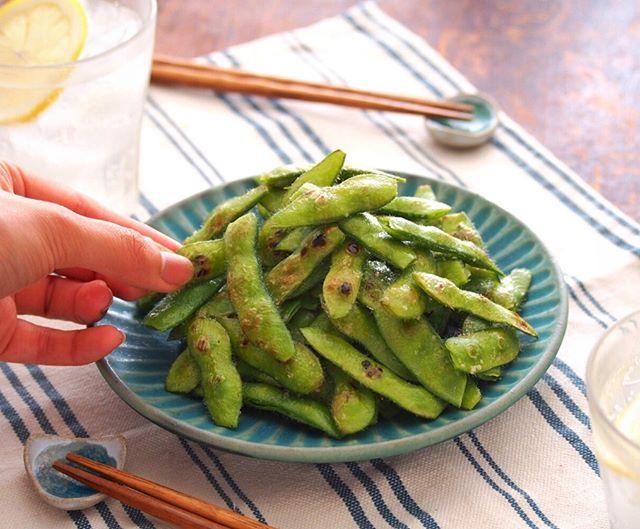夏のおつまみ!焼き枝豆