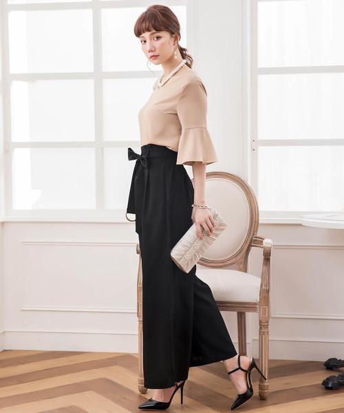[DRESS STAR] ワイドパンツセットアップドレス・結婚式ワンピース・お呼ばれパーティードレス