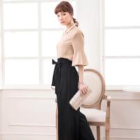 大人女性のお呼ばれスタイル♡ロング・タイト・パンツのフォーマルコーデ