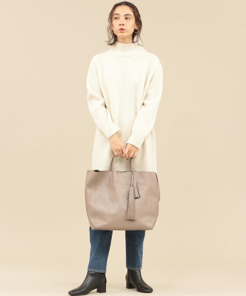[BEAUTY&YOUTH UNITED ARROWS] BY∴ レザータッセルトートバッグ -2WAY-