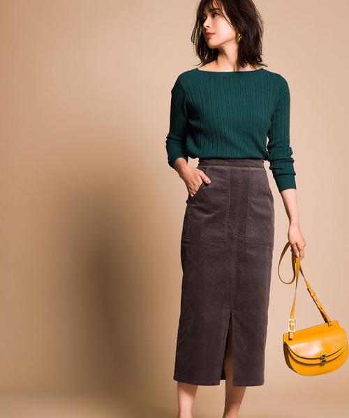 [tocco closet] 《yokoさんコラボ》コーデュロイタイトスカート