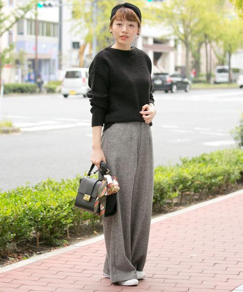 春や秋の肌寒い気温の今日の服装【パンツ】