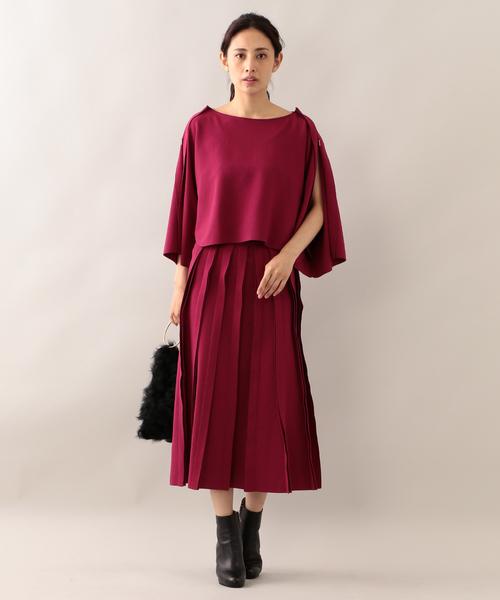 [EPOCA THE SHOP] 【ラマリア】ニットプリーツ見えスカート