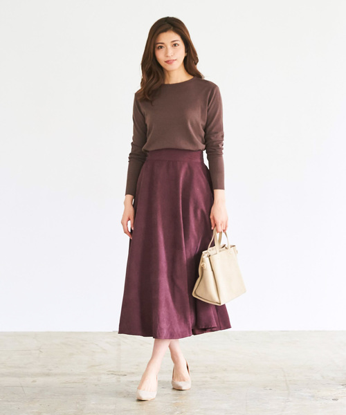 [ur's] ボリュームフレアスカート