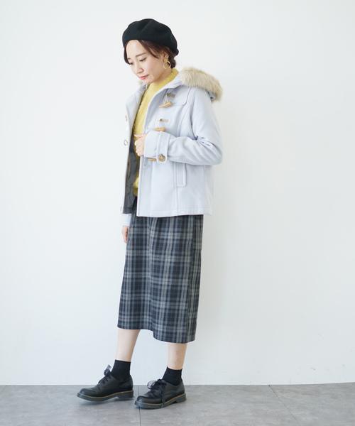 [earth music&ecology] フルフルダッフル(ショート) ○
