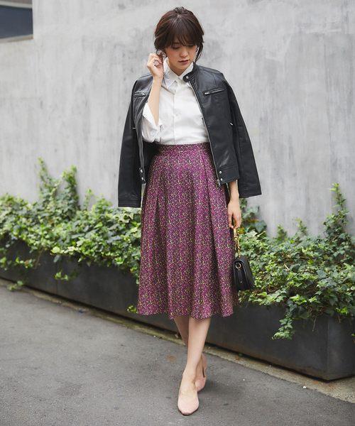 [tocco closet] 小花柄タックフレアスカート