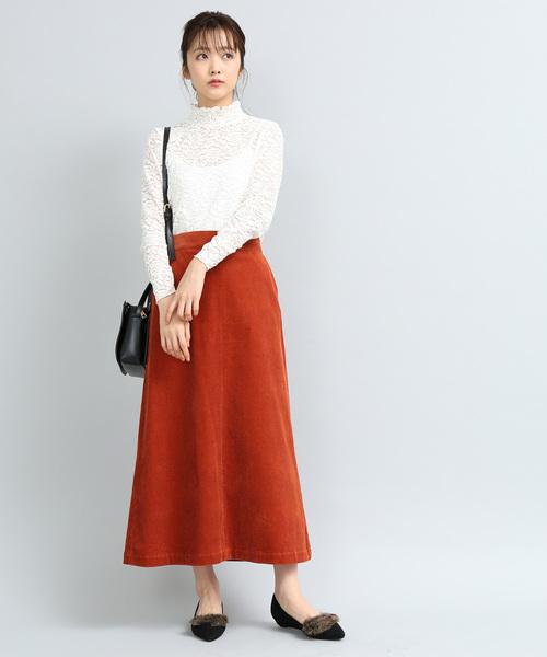 [ViS] 太コーデュロイロングスカート