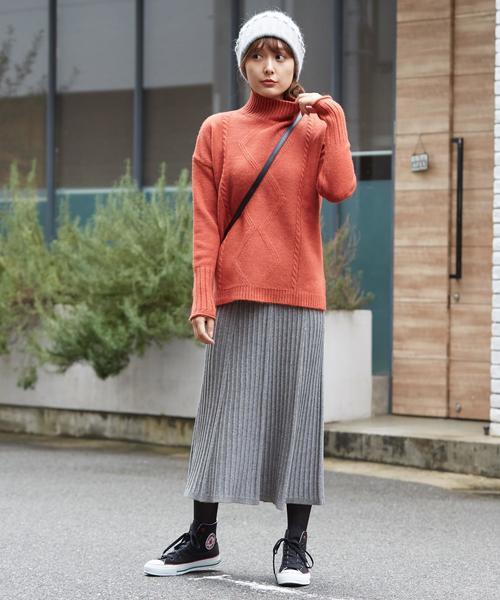[Doula Doula] リブハイウエストロングスカート