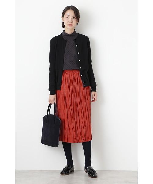[HUMAN WOMAN] ワッシャープリーツスカート