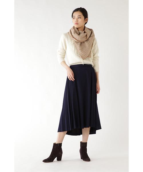 17[H/standard] ウールジャージーサイドプリーツスカート