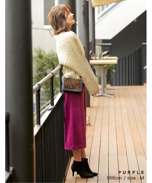 [Re:EDIT] フロントスリットベロアタイトスカート