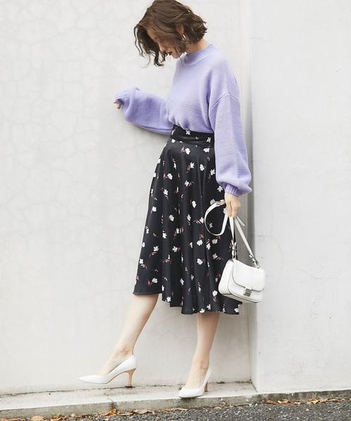 [tocco closet] 小花柄フレアスカート