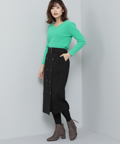 [ViS] 【泉里香×ViS】Iライントレンチスカート
